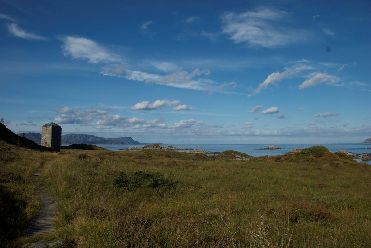 Utsikt Selja med tårnet og havutsikt